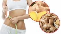 Cách giảm mỡ bụng từ gừng, rượu và nghệ tươi