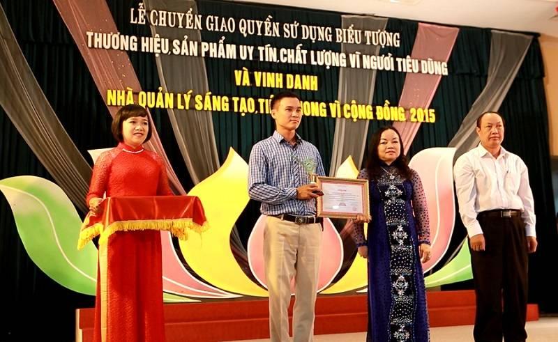 Daiviet Sport nhận giải thưởng Thương hiệu, Sản phẩm Uy tín, Chất lượng vì Người tiêu dùng 2015