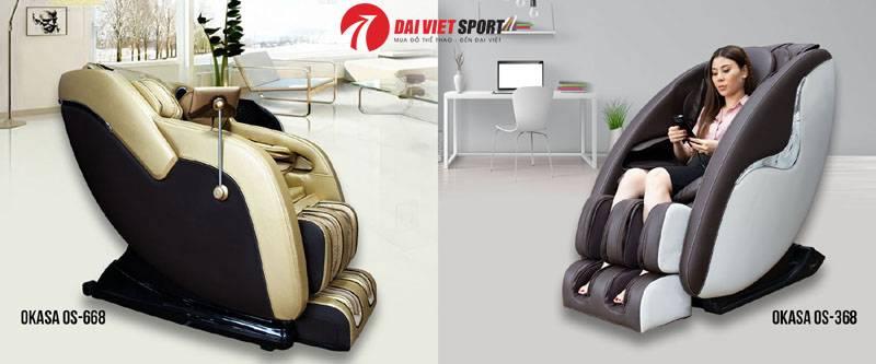 So sánh Ghế massage toàn thân Okasa OS-368 và OS-668
