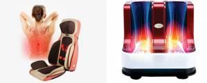 So sánh Máy massage chân và Đệm ghế massage